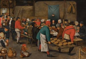 The Wedding Feast by PIETER BRUEGHEL