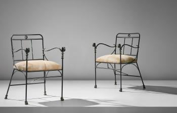 Têtes de Lionnes armchairs by DIEGO GIACOMETTI