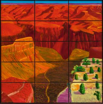 15 Canvas Study of The Grand Canyon by DAVID HOCKNEY