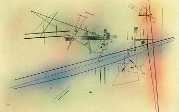 Leise (quietly) by WASSILY KANDINSKY