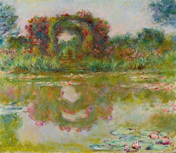 Les arceaux de roses, giverny by CLAUDE MONET