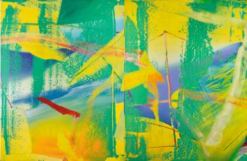 Gelbgrun (Yellow-green) by GERHARD RICHTER