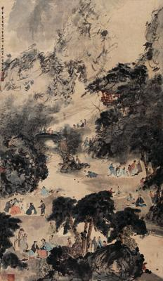 A Meeting of Scholars in the Lan Pavilion by FU BAOSHI