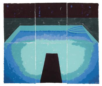 Piscine De Medianoche (Paper Pool 30) by DAVID HOCKNEY