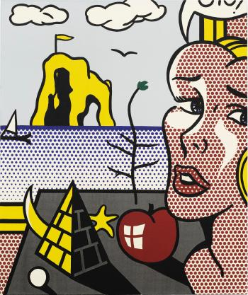 Still Life With Head In Landscape by ROY LICHTENSTEIN