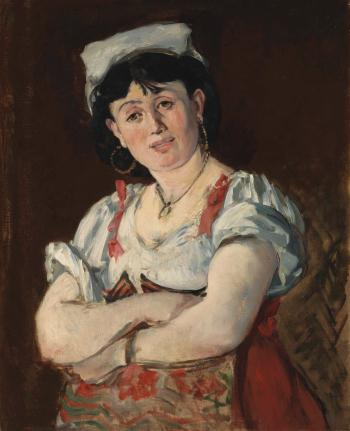 L'italienne by EDOUARD MANET