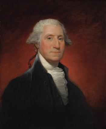 George Washington (Vaughan Type) by GILBERT STUART