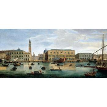 Venice, view of the Riva Degli Schiavoni with the Palazzo Ducale by  Gaspar van Wittel