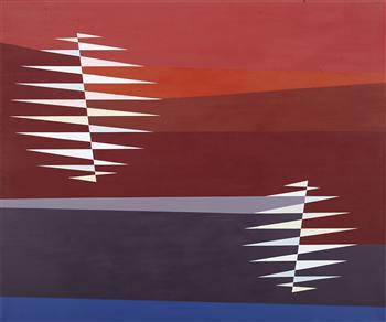 Two Worlds by Odili Donald Odita   Blouin Art Sales Index