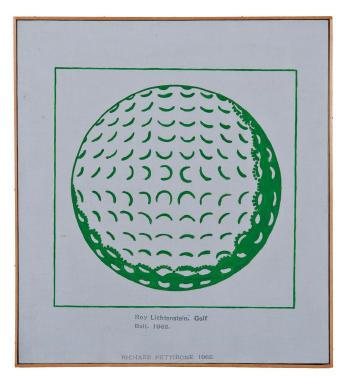 Roy Lichtenstein, Golf Ball, 1962 by RICHARD PETTIBONE