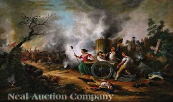 molly pitcher c 1754 1832 at the battle of monmouth nj 1778 by