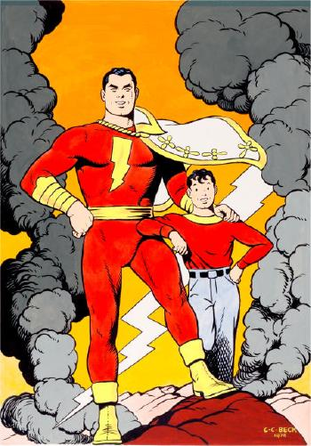 Whiz Comics #22 Captain Marvel and Billy Batson Cover Re-Creation