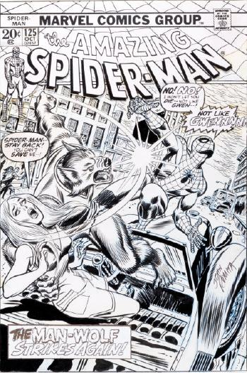 The Amazing Spider-Man #125 Cover Original Art by John