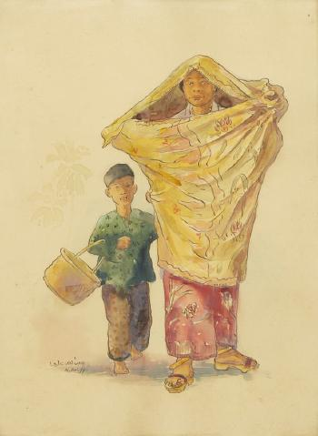 Mother And Child By Abdullah Ariff Blouin Art Sales Index