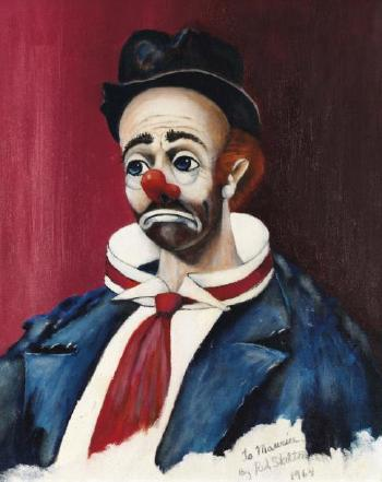 Clown Triste By Red Skelton Blouin Art Sales Index