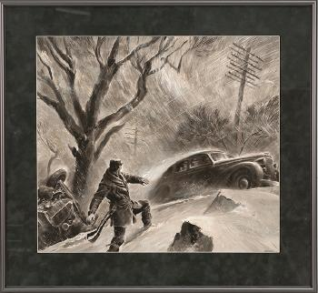 Car accident by Peter Helck | Blouin Art Sales Index
