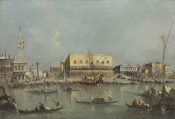 Venice, the Bacino di San Marco, with the Piazzetta and the Doge's Palace by  Francesco Guardi