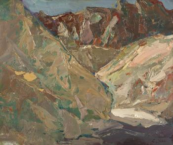 Mountain in desert, Death Valley, CA by Si Chen Yuan | Blouin Art