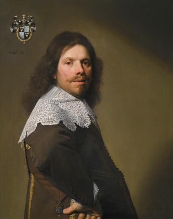 Portrait of Cornelis Montigny De Glarges, Aged 43, Half-length, in a Brown Coat and White Lace Ruff by JAN VERSPRONCK