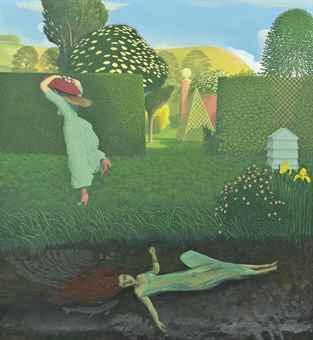 The River Bank (Ophelia) by DAVID INSHAW