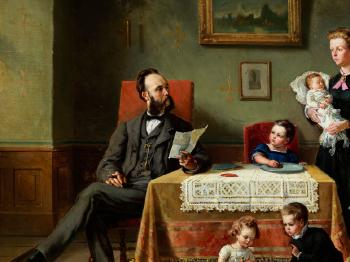 Familienportrait in einem Interieur by Charles Meer Webb by August ...