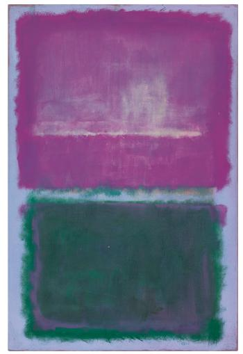 Untitled (Lavender and Green) by MARK ROTHKO