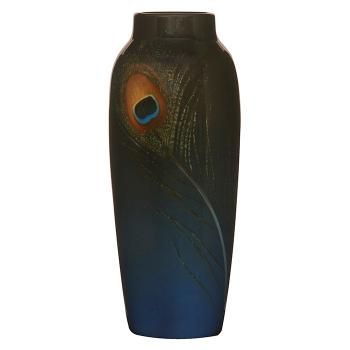 Peacock Feather Vase 907f By Rookwood Pottery By Carl Schmidt