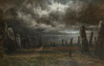 Stonehenge by Moonlight by David Cox   Blouin Art Sales Index