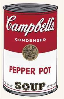 andy warhol pepper pot campbell's soup screenprint