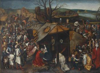 The Adoration of the Magi by PIETER BRUEGHEL