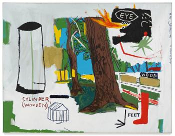 Wood by JEAN-MICHEL BASQUIAT