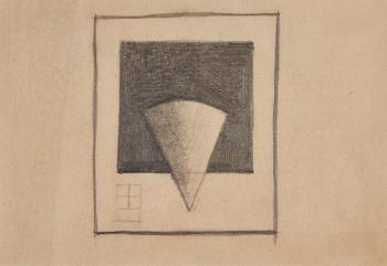 Square and Cone by KAZIMIR MALEVICH