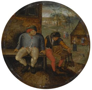The fat peasant and the peddler: A Flemish proverb by PIETER BRUEGHEL