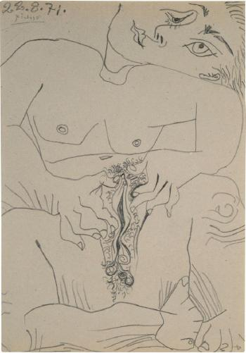 Nu (Nude) by PABLO PICASSO