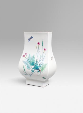 A Berlin Kpm Porcelain Vase With Floral Chinoiserie Decor By Trude