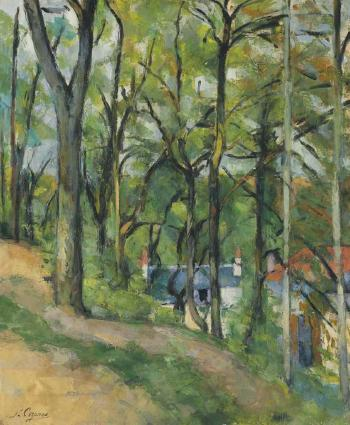 La côte Saint-Denis à Pontoise by PAUL CEZANNE