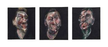 Three Studies for a Portrait of George Dyer by FRANCIS BACON