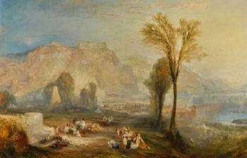 Ehrenbreitstein, Or The Bright Stone Of Honour And The Tomb Of Marceau, From Byron's Childe Harold by JOSEPH MALLORD WILLIAM TURNER
