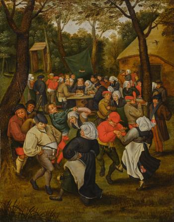 Wedding Dance In The Open Air by PIETER BRUEGHEL