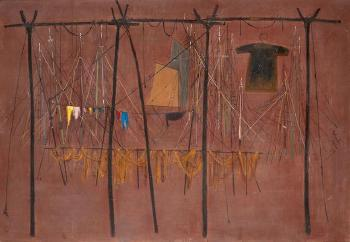 Fishing nets and caiques by Spyros Vassiliou | Blouin Art Sales Index