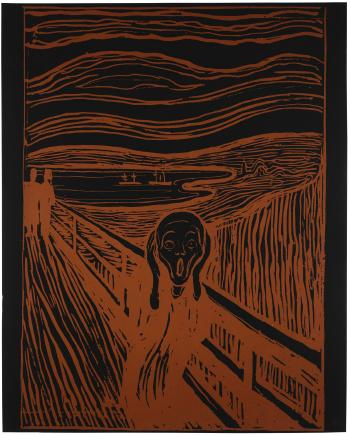 The scream, after munch by ANDY WARHOL