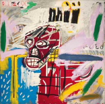 Red Skull by JEAN-MICHEL BASQUIAT