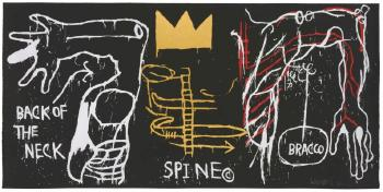 Back of the neck by JEAN-MICHEL BASQUIAT