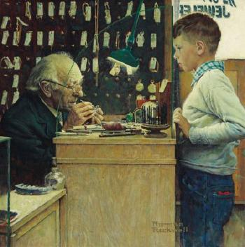 The Watchmakers of Switzerland, Zürich, Switzerland by NORMAN ROCKWELL