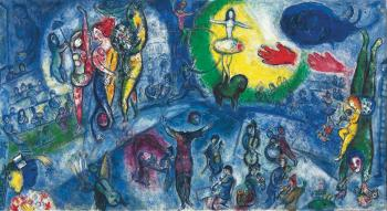 Le grand cirque by MARC CHAGALL