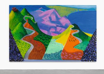Pacific Coast Highway And Santa Monica by DAVID HOCKNEY
