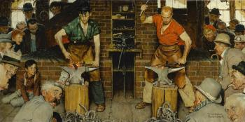 Blacksmith'S Boy- Heel And Toe… by NORMAN ROCKWELL