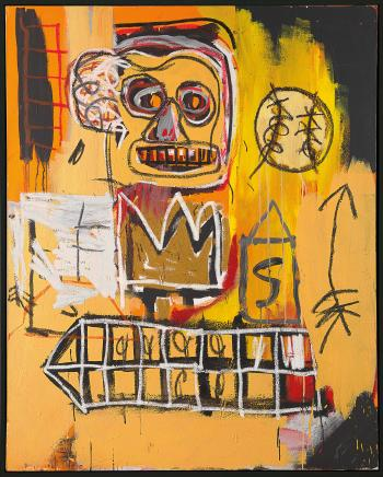 Untitled (Orange Sports Figure) by JEAN-MICHEL BASQUIAT