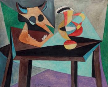 Nature morte: Tête de taureau by Pablo Picasso | Blouin Art Sales Index