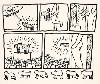 Untitled from the blueprint drawings l p 181 by keith haring keith haring malvernweather Gallery